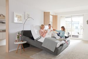 The suite eMotion comfort bed is a centre of life for the whole family.