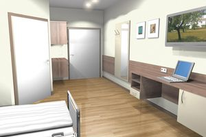 Precise 3-D renderings give a realistic impression of the new rooms.