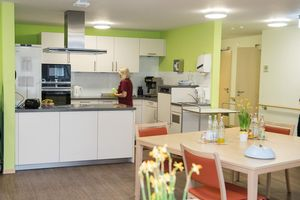 Each residential group has a cosy kitchen.