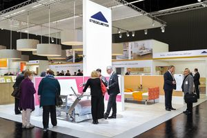 The Stiegelmeyer stand in Nuremberg impressed visitors with its bright colours.