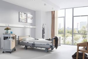 The hospital bed Puro impresses with its modern design.