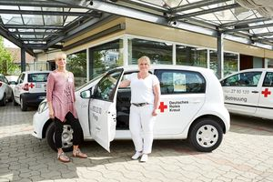 A visit to the mobile care service of the German Red Cross in Herford.