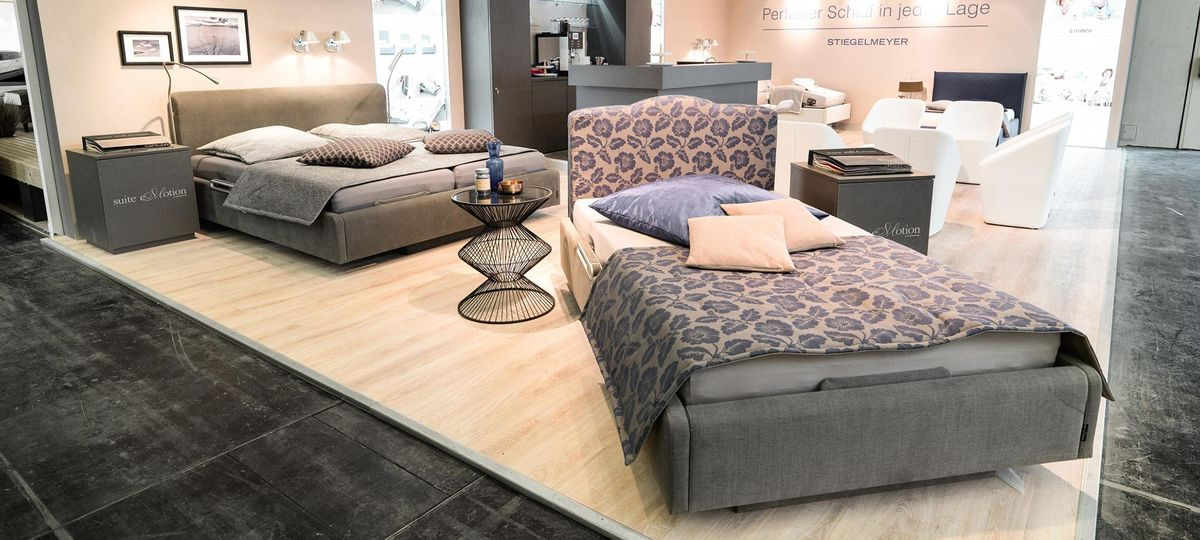 our comfort beds at the imm cologne stiegelmeyer forum online magazin. Black Bedroom Furniture Sets. Home Design Ideas