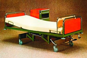 Bright colors were a must on many units in the 70s and 80s. The hospital bed series
