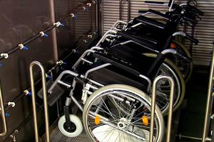 The company offers cleaning systems for various products – here wheelchairs.